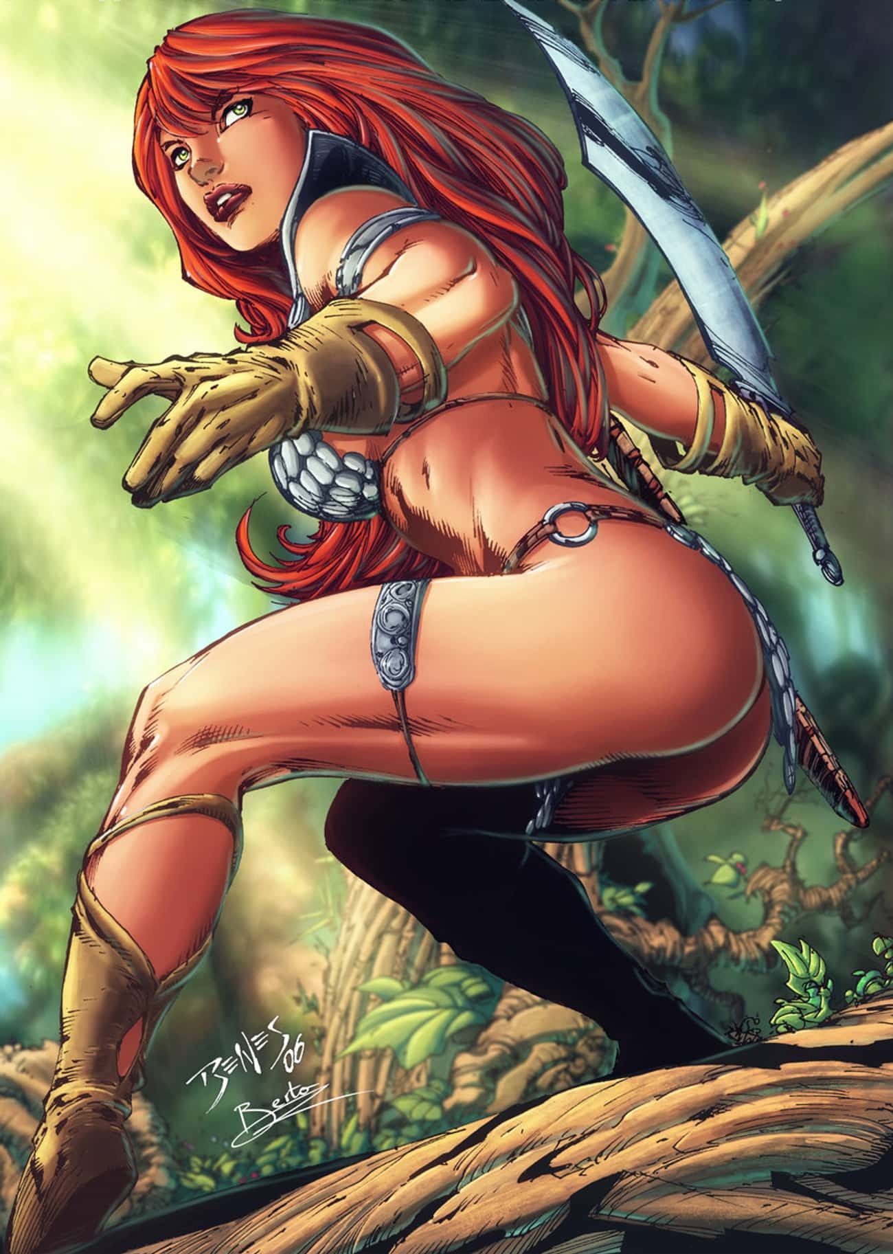 Red Sonja in Scale Armor, Gaun is listed (or ranked) 1 on the list Sexy Red Sonja Pictures