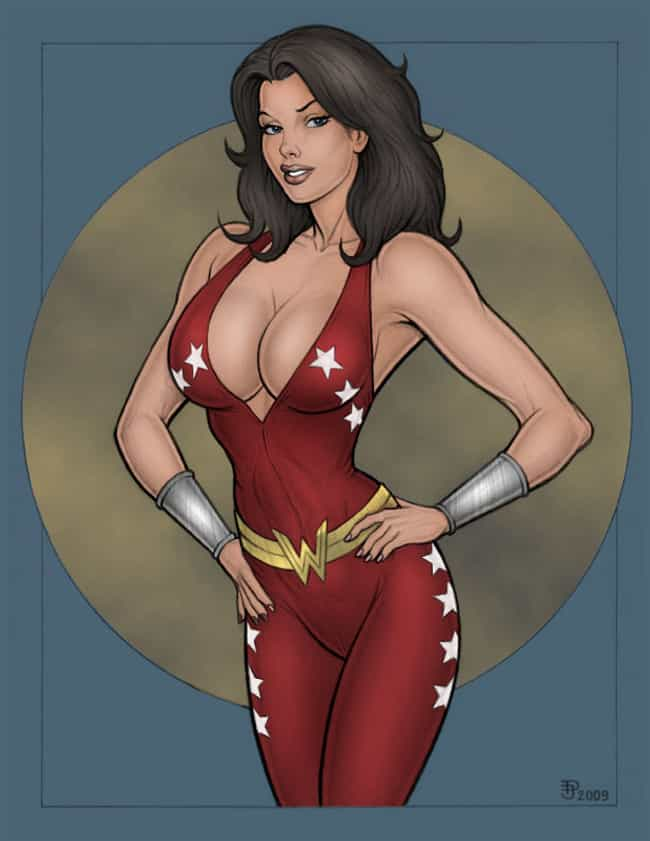 Donna Troy in Red Tight Suit D... is listed (or ranked) 3 on the list Sexy Donna Troy Pictures