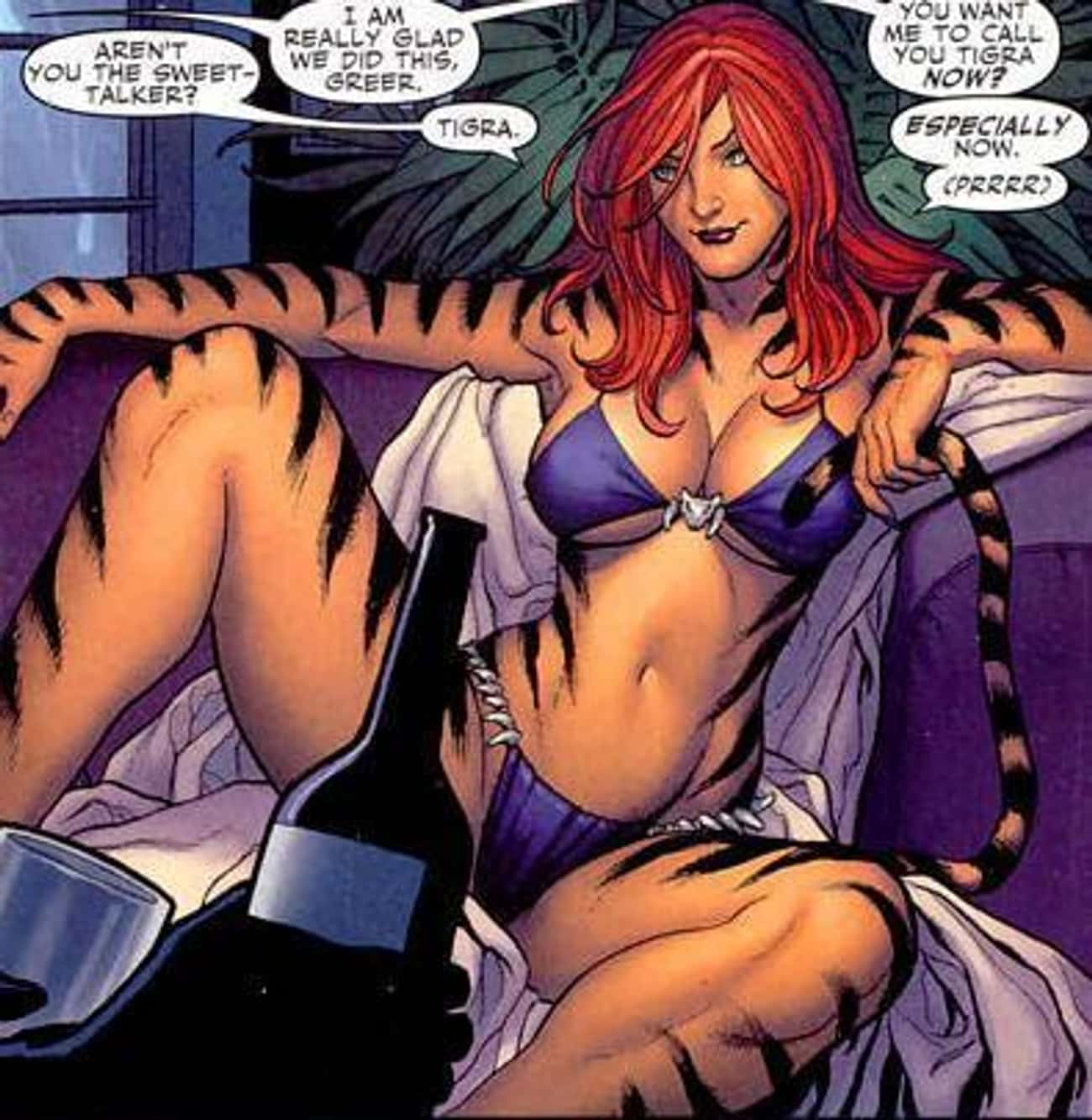 Tigra in Navy Blue Swimsuit is listed (or ranked) 1 on the list The Most Stunning Tigra Pictures