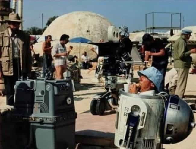 R2D2 Eating a Sandwich ... is listed (or ranked) 3 on the list 95+ Amazing Behind the Scenes Photos from Iconic Movies