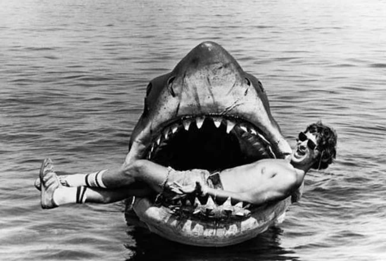 Spielberg in the Mouth of a Le is listed (or ranked) 2 on the list 95+ Amazing Behind the Scenes Photos from Iconic Movies