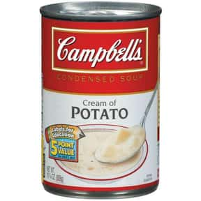 Campbell's Cream of Potato is listed (or ranked) 14 on the list The Best Kinds of Campbell's Soups That Are Mmm, Mmm Good