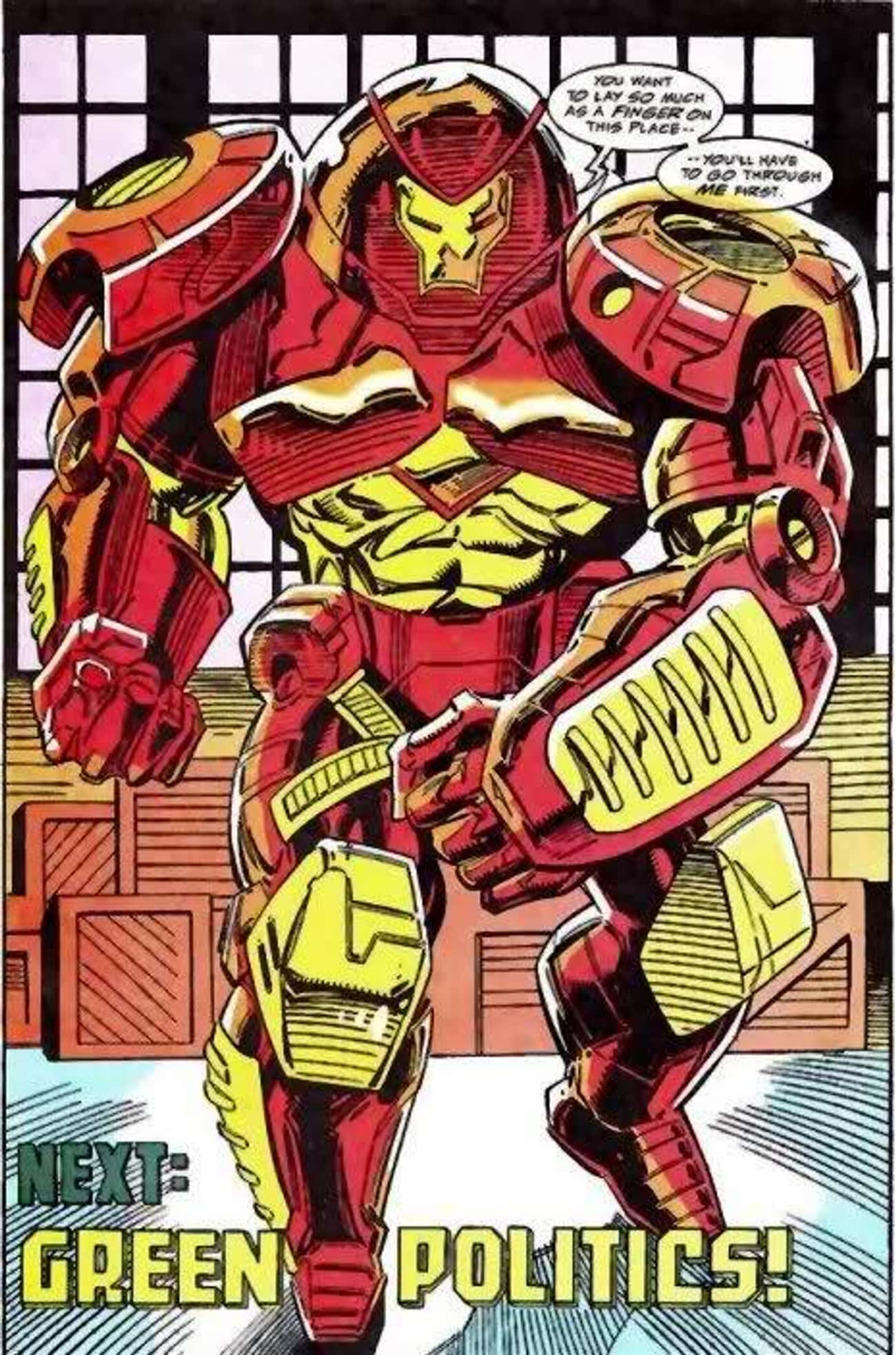 Hulkbuster Armor is listed (or ranked) 4 on the list The Greatest Iron Man Armor of All Time