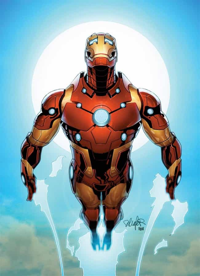 Bleeding Edge Armor is listed (or ranked) 3 on the list The Greatest Iron Man Armor of All Time