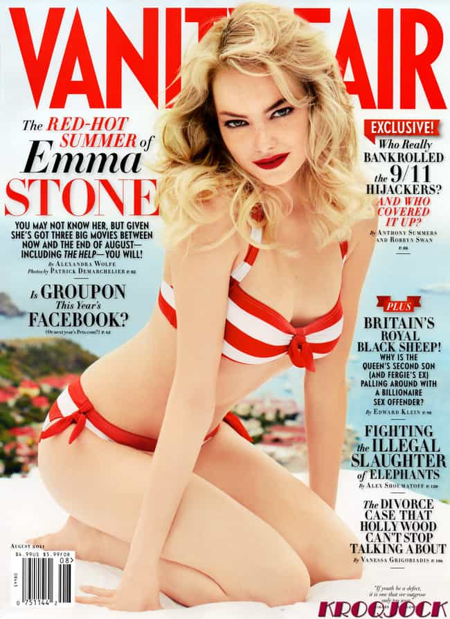 Emma Stone as a Candy Cane, I ... is listed (or ranked) 3 on the list The Hottest Pictures of Emma Stone
