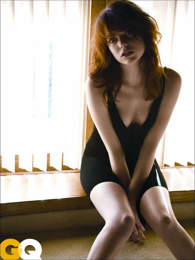 Emma Stone as a Windowsill Orn... is listed (or ranked) 2 on the list The Hottest Pictures of Emma Stone