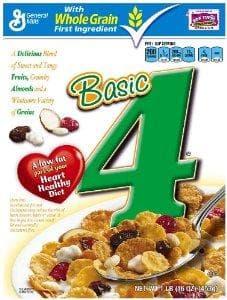 Basic 4 on Random Best Healthy Cereals