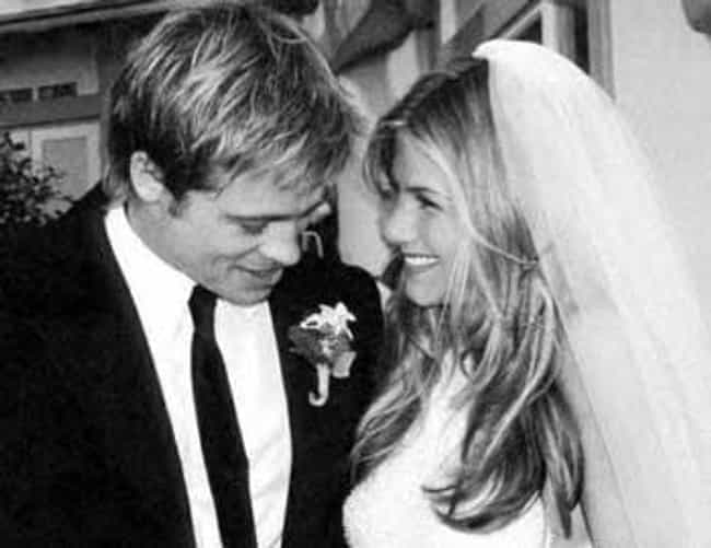 Jennifer Aniston and Brad Pitt is listed (or ranked) 3 on the list The Top 10 Most Famous Celebrity Weddings