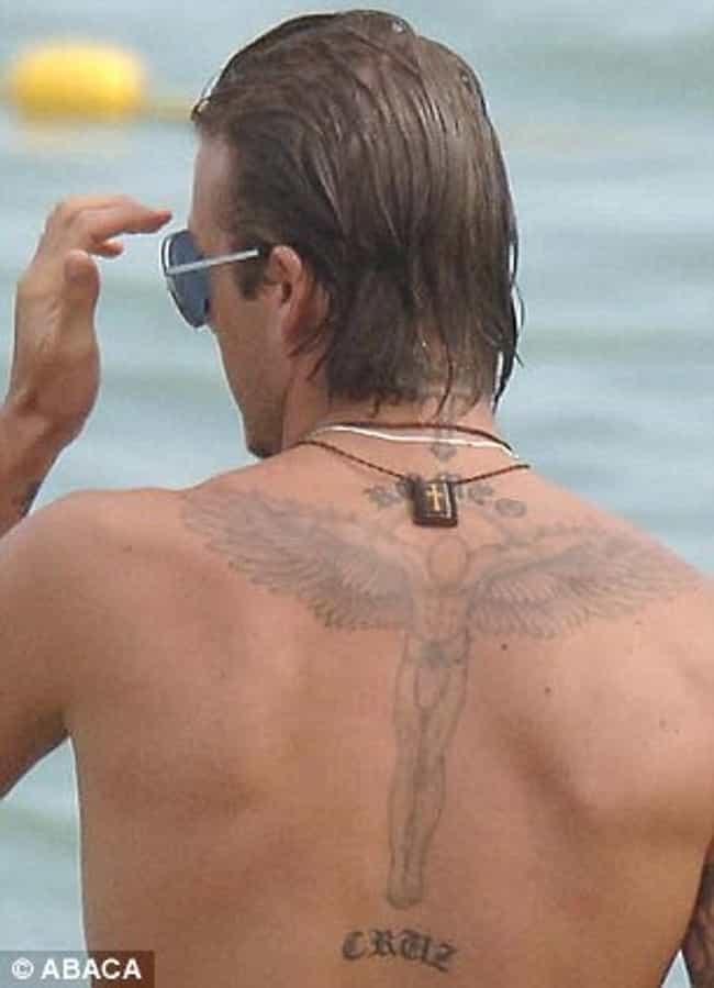 Cruz is listed (or ranked) 2 on the list David Beckham Tattoos