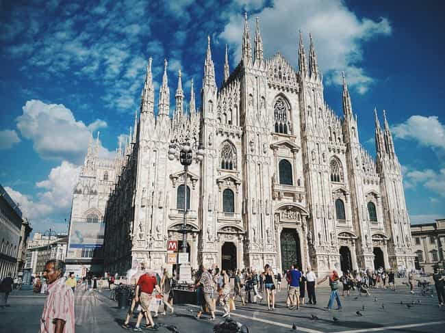 Milan Cathedral Duomo is listed (or ranked) 4 on the list The Most Beautiful Buildings in the World