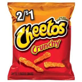 Cheetos is listed (or ranked) 18 on the list The World's Most Delicious Chips, Crisps & Crunchy Snacks