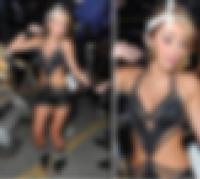 Miley Cyrus in black leather a... is listed (or ranked) 8 on the list Miley Cyrus Bikini Pictures