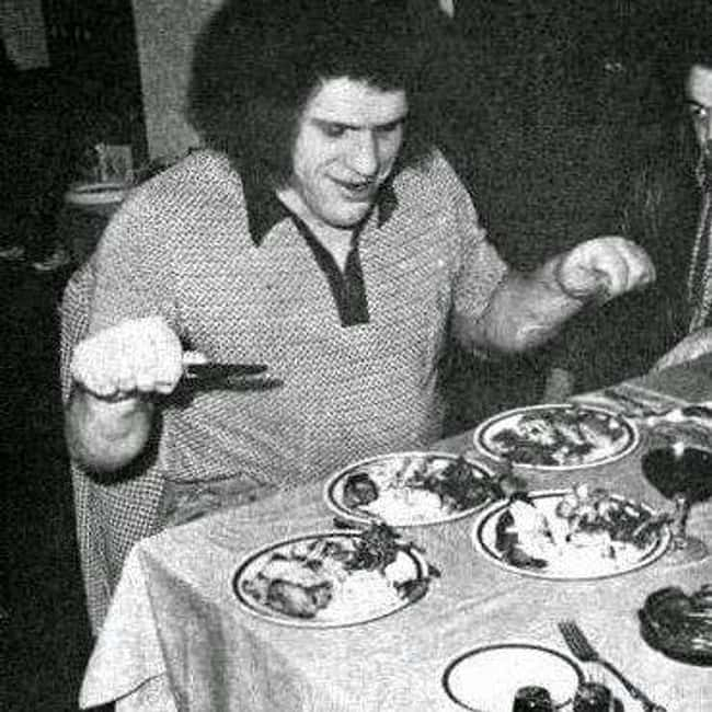 Andre the Giant is listed (or ranked) 11 on the list Crazy Diets of Wrestlers and Other Athletes
