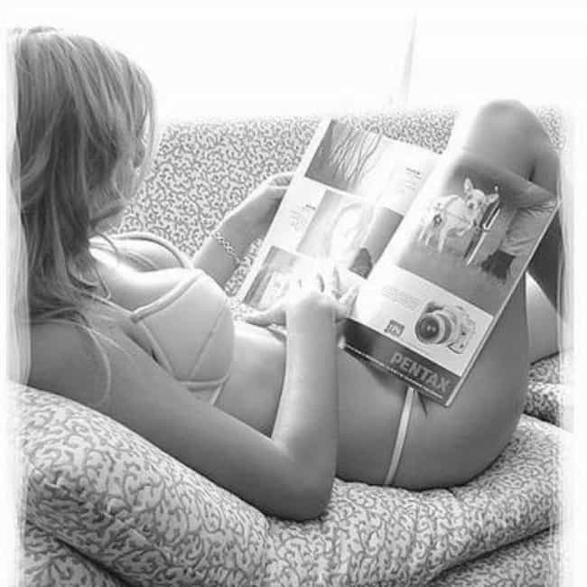Underwear Model Reads Up on th... is listed (or ranked) 2 on the list The 50 Hottest Pictures of Sexy Girls Reading Books