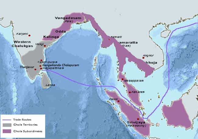 Chola Empire is listed (or ranked) 2 on the list The Top 10 Greatest Empires of India