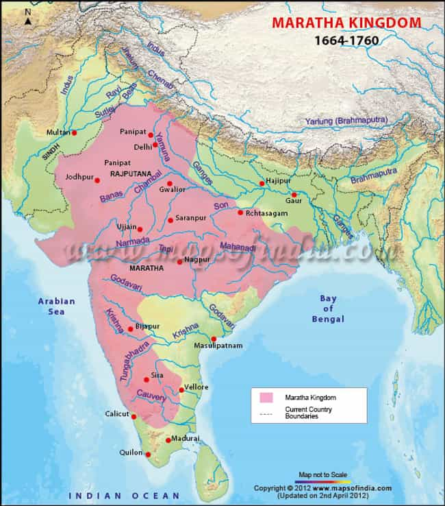 Maratha Empire is listed (or ranked) 3 on the list The Top 10 Greatest Empires of India