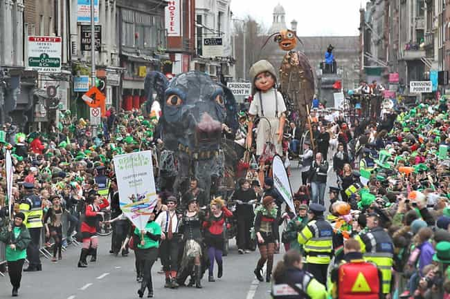 St. Patricks Day, Ireland is listed (or ranked) 4 on the list The Best Annual Party Events to Attend Worldwide