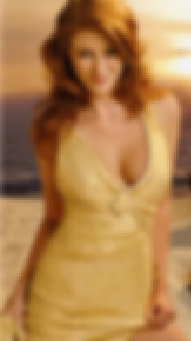 Angie Everhart in Gold Deep V ... is listed (or ranked) 2 on the list Hottest Angie Everhart Photos