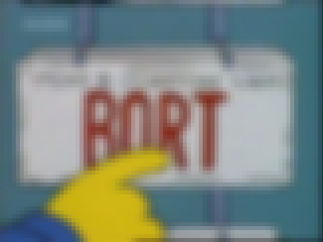 The 'Bort' License Plate is listed (or ranked) 4 on the list The Funniest Props on The Simpsons
