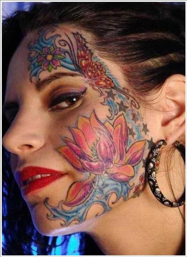 Face is listed (or ranked) 3 on the list The Worst Place to Get a Tattoo