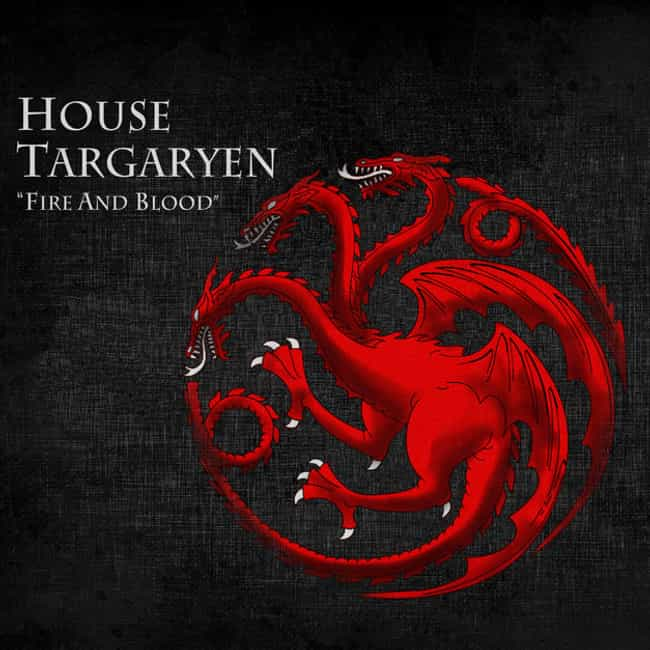 House Targaryen is listed (or ranked) 2 on the list The Best Game of Thrones Houses