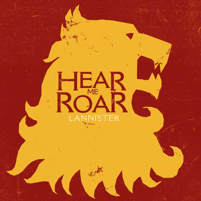 House Lannister of Casterly Ro... is listed (or ranked) 3 on the list The Best Game of Thrones Houses