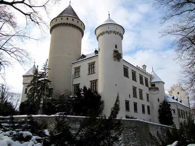 Konopiště Castle is listed (or ranked) 3 on the list The Most Beautiful Castles in Czech Republic