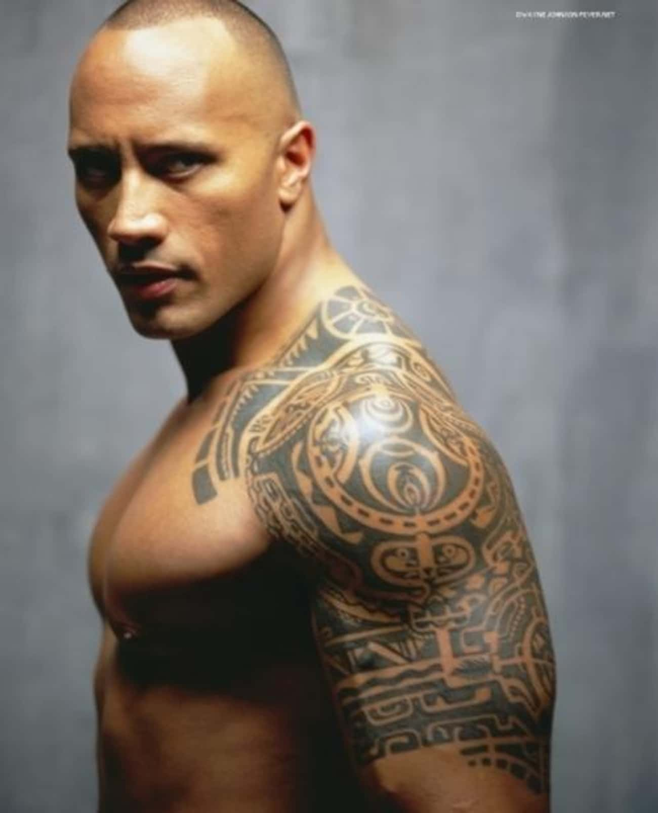 Eyes is listed (or ranked) 1 on the list The Rock Tattoos