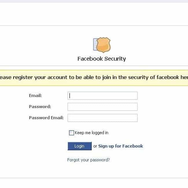 Facebook Phishing Scams is listed (or ranked) 2 on the list Types of Facebook Spam