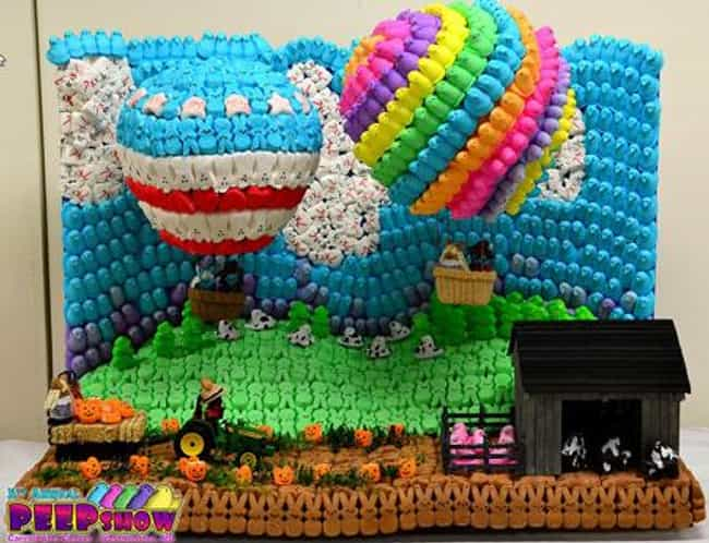 Hot Air Balloons is listed (or ranked) 3 on the list 64 Crazy Pieces of Peep Art