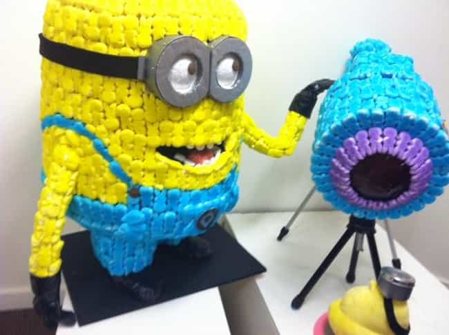 Minion is listed (or ranked) 4 on the list 64 Crazy Pieces of Peep Art