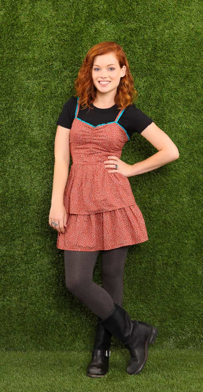 Jane Levy in a Red Layered Dre... is listed (or ranked) 4 on the list The Most Stunning Jane Levy Photos