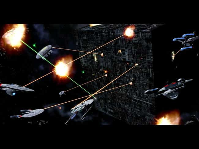 Borg Cube is listed (or ranked) 1 on the list Star Trek's Most Devastating Spaceborne Threats