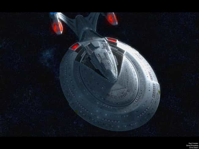 USS Enterprise NCC-1701-E is listed (or ranked) 4 on the list Star Trek's Most Devastating Spaceborne Threats