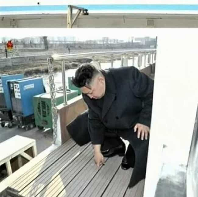Wooden Planks is listed (or ranked) 3 on the list The 51 Best Pictures of Kim Jong-Un Looking at Things