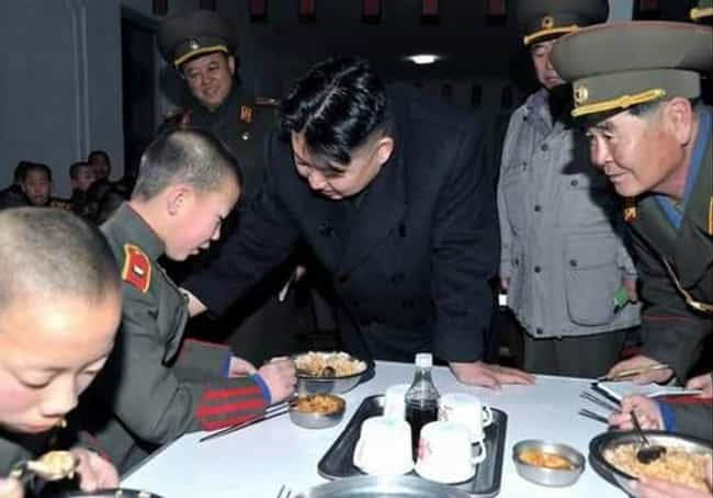 Somebody's Dinner is listed (or ranked) 2 on the list The 51 Best Pictures of Kim Jong-Un Looking at Things