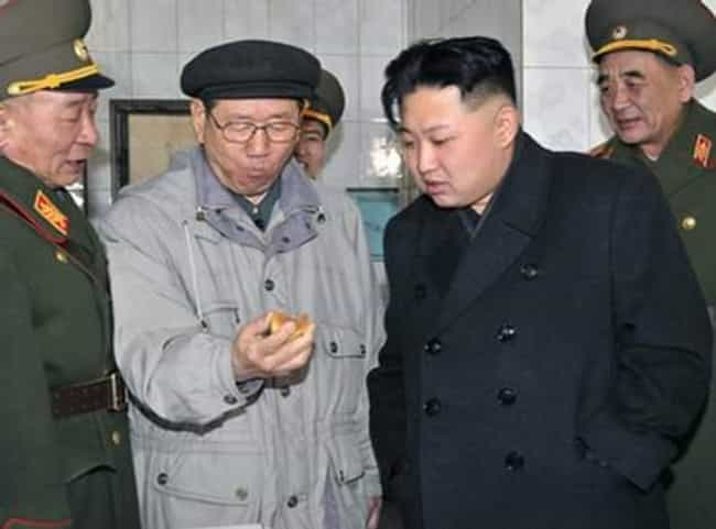 Snacks (Enviously) is listed (or ranked) 4 on the list The 51 Best Pictures of Kim Jong-Un Looking at Things