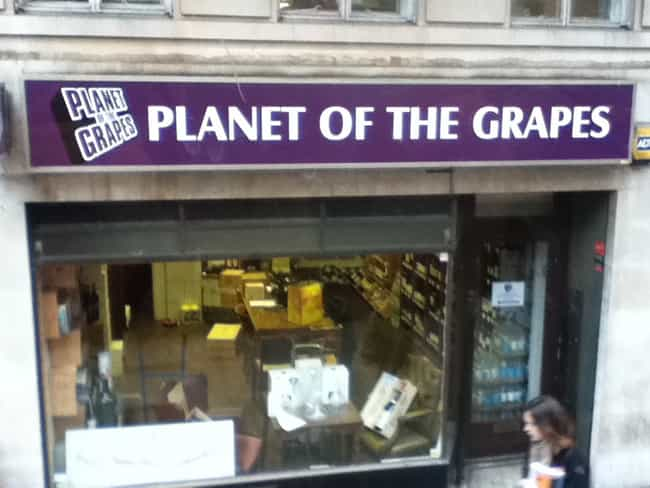 A Wine Shop is listed (or ranked) 7 on the list The 47 Greatest Pun-tastic Restaurant Names