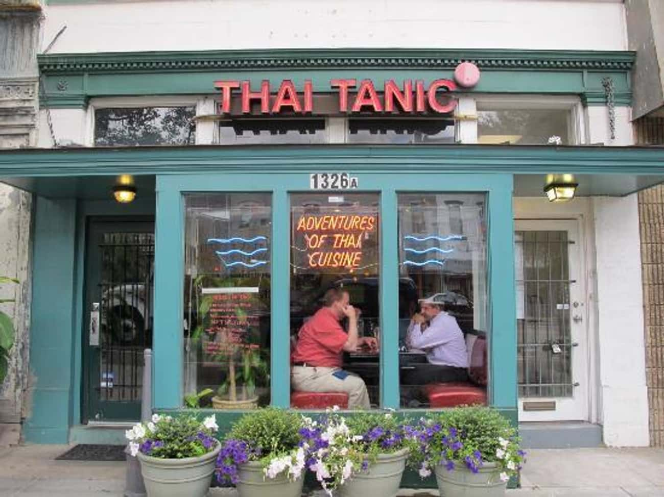 A Thai Restaurant is listed (or ranked) 3 on the list The 47 Greatest Pun-tastic Restaurant Names