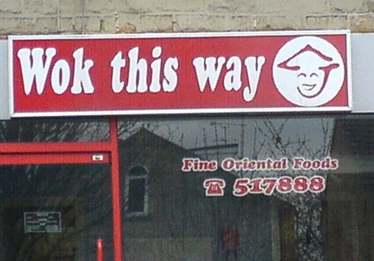 A Chinese Restaurant is listed (or ranked) 1 on the list The 47 Greatest Pun-tastic Restaurant Names