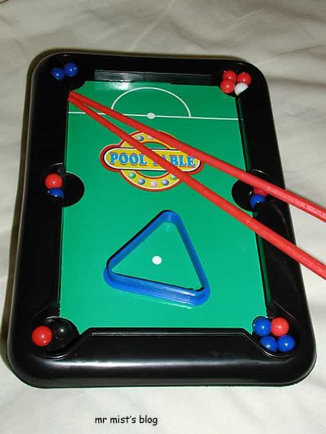 $1 Pool Tables With Instantly-... is listed (or ranked) 4 on the list 23 Toys That Prove Your Parents Didn't Love You