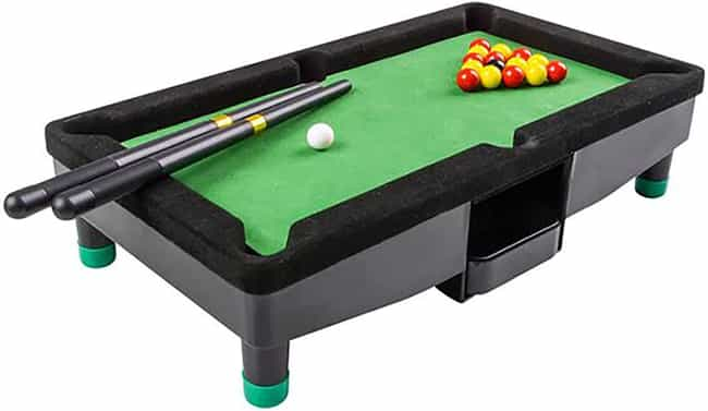 Mini Pool Tables is listed (or ranked) 4 on the list 20 Toys That Prove Your Parents Didn't Love You