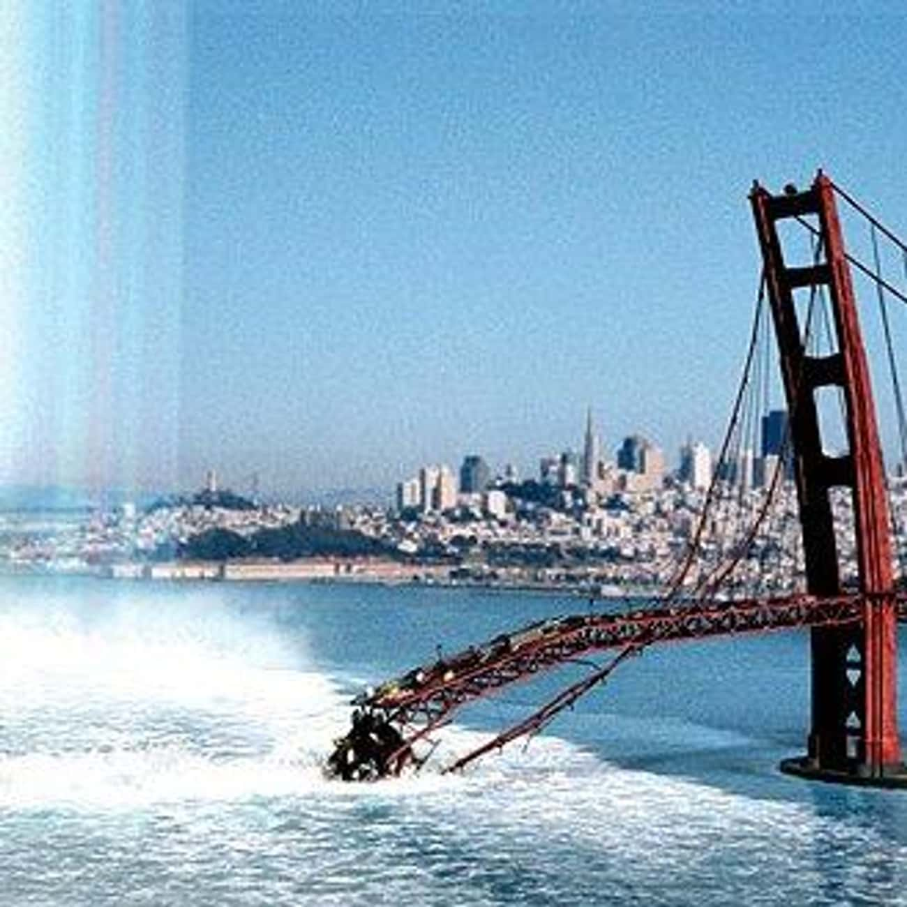 Suspension Bridges Ignore Phys is listed (or ranked) 2 on the list The Most Idiotic Bad-Science Moments in Disaster Movies