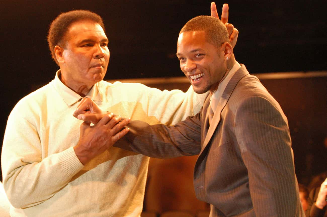 Will Smith and Muhammad Ali is listed (or ranked) 4 on the list 23 Awesome Pics Of Actors With People They Played In Movies
