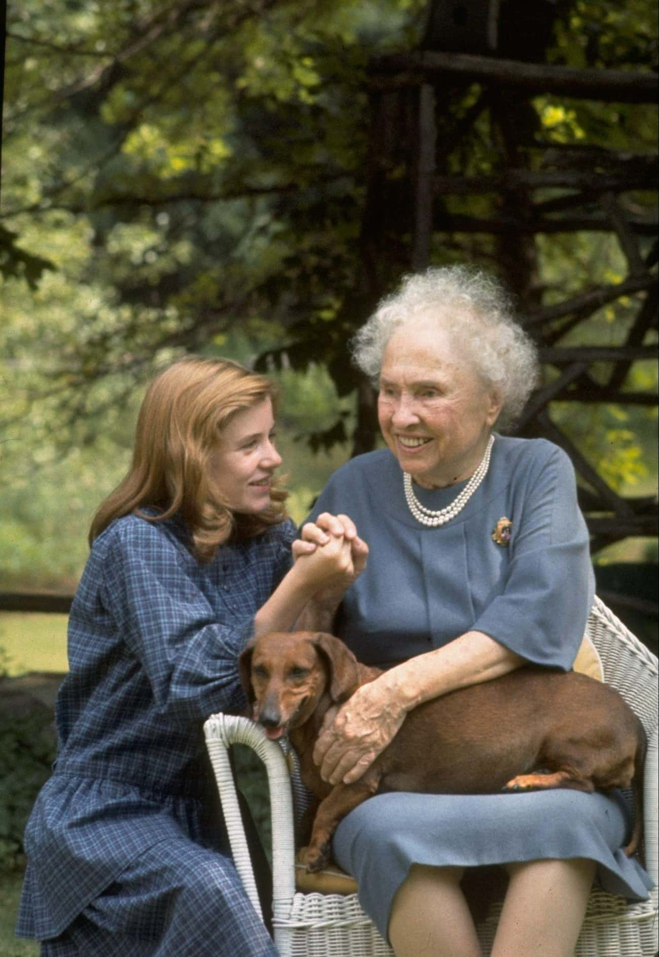 Helen Keller and Patty Duke is listed (or ranked) 3 on the list 23 Awesome Pics Of Actors With People They Played In Movies