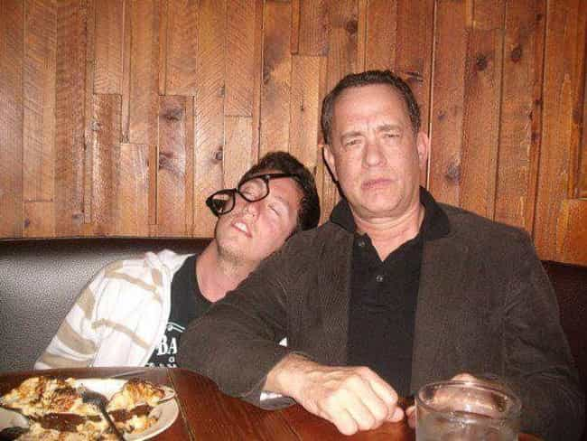 Don't Sleep Or Tom Hanks... is listed (or ranked) 4 on the list The Funniest Celebrity Photobombs