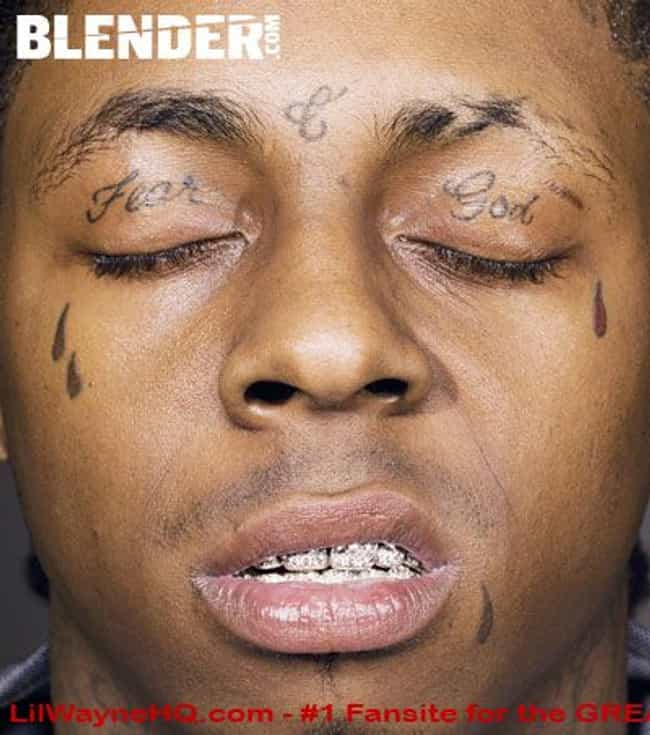 Four Tears is listed (or ranked) 2 on the list Lil Wayne Tattoos