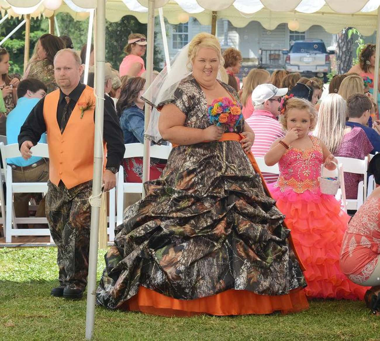 """June """"Mama June"""" Sha is listed (or ranked) 1 on the list 24 of the Wackiest Celebrity Wedding Gowns"""