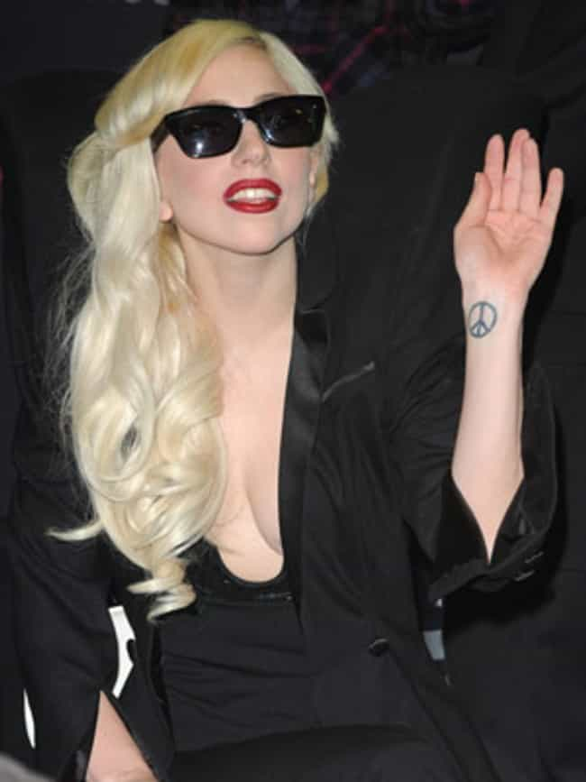 Peace Sign Tattoo is listed (or ranked) 2 on the list Lady Gaga Tattoos