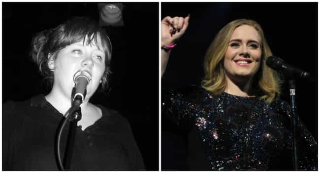 Adele is listed (or ranked) 3 on the list These Epic Celebrity Glo Ups Will Stop You In Your Tracks
